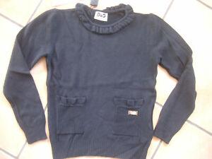 (C549) Dolce & Gabbana Girls Langarm Shirt mit Taschen und Logo Plakette gr.104