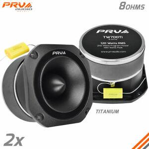 """2x PRV Audio TW700Ti Bullet 4"""" Pro Audio Super Tweeters 8 Ohms Titanium 480W"""