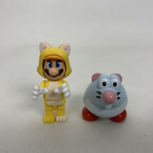 K'NEX Cat Mario Figure Super Mario 3D Land Lot 2 Figures