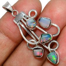 Ethiopian Opal Rough 925 Sterling Silver Pendant Jewelry AP195939 146S
