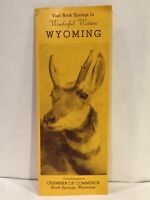 1941 ROCK SPRINGS WYOMING Chamber of Commerce US Bomber Travel Brochure and Map