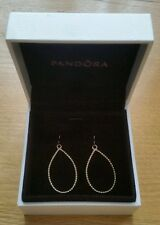 GENUINE PANDORA 14k Gold Raindrop Compose Earrings / 250432  NEW - RETIRED