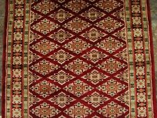 Mid Night Red Jaldar Ivory Silk Touch Flowers Hand Knotted Wool Silk Carpet 5x3