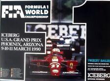Formula 1 Phoenix 1990. POSTER ORIGINAL