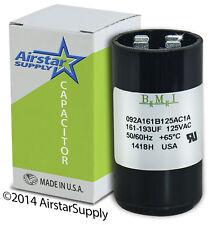 161-193 uF x 110/125 VAC • BMI Motor Start Capacitor # 092A161B125AC1A • USA