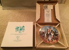 Hamilton Collection Wizard of Oz Fifty Years of Oz Commemorative Plate 1989 Guc