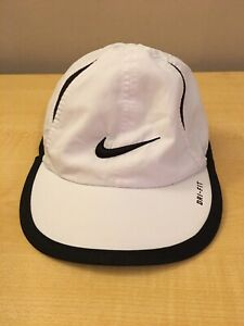 Nike Infant Featherlight Dri Fit Cap Hat White Black Baby Boy 12-24 Months