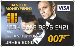 Daniel Craig - James Bond Novelty Plastic Credit Card