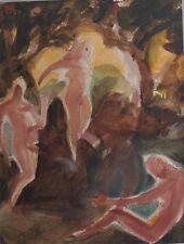 Akte im Wald, Expressionist, signiert