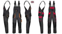 UK-Bib and Brace Overalls Mens Work Trousers Bib Pants Knee Pad Multi Pocket