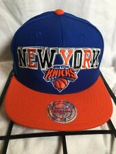 New York Knicks Mitchell & Ness Snapback Hat Adjustable Vintage Script Blue Hat