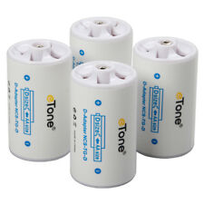 New 4x AA R6 To LR20 D Size Eneloop Alkaline Battery Converter Adapter Spacer