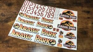 10th scale Jurassic Park Decals - Stickers for 1/10 RC - Crawler Axial TRX4 Jeep