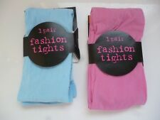 50 Denier Appearance Fashion Tights Pink or Blue