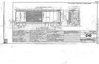 C&O Chesapeake & Ohio Mechanical Drawings Blueprints RR Cars Caboose 1930-1960