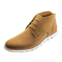Bruno Marc Mens Casual Ankle Chukka Boots Suede Lace Up Dress Botters for Men