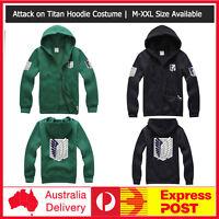 Attack on Titan Shingeki no Kyojin Scouting Legion Top Hoodie Cosplay S-XXL Size