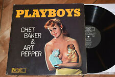 Chet Baker Art Pepper Playboys EX! 1st DG World Pacific lp Cheesecake cover