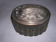 Vintage Copper and tin Corn design food Jello mold tin lined cake mold