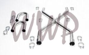 "Stainless Steel 2.50"" Universal Exhaust Builder X-Pipe Tubing Kit LS Engine Swap"