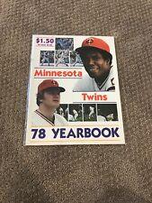 1978 MINNESOTA TWINS YEARBOOK MAGAZINE CAREW WYNEGAR VERY NICE