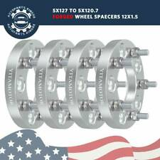 "1""/25MM 5x127 to 5x120.7 Wheel Adapters M12x1.5 for Chevrolet GMC Pontiac"