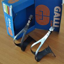 NOS New GALLI pedal toe clips Campagnolo Super Record era road track bike alu M