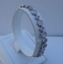 3 Cts Diamond / 7'' Long/Elegant 925 Sterling Silver Ladies Tennis Bracelet W/