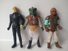 Vintage Star Wars Figures Bundle Luke Skywalker, Klaatu, Weequay 1983 Original
