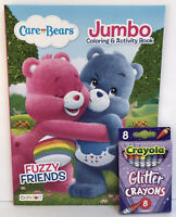 New Care Bears Jumbo Coloring & Activity Book + Glitter Crayons