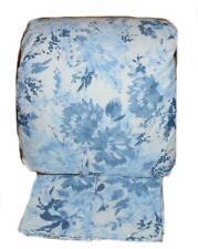 Ralph Lauren Blue Large Blossom Floral 3P Full/ Queen Comforter Shams Set Cotton