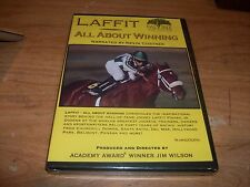 Laffit All About Winning Narrated by Kevin Costner (DVD 2005) Jim Wilson NEW