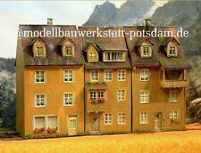 💪Diorama H0 #1:87 Stadthäuser 3 tlg. patiniert #Top Gebäude @wollweber #2