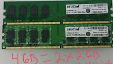 4GB  2RX8  PC2-5300U DDR2-667 240PIN DIMM Ram For  DELL Optiplex 740 745 755