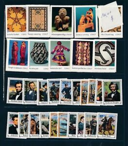 D125818 USA Nice selection of MNH stamps Facevalue $10.1