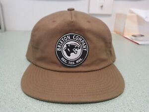 BRIXTON Company High Profile brown snapback hat