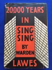 20,000.00 YEARS IN SING SING - 1ST. ED. BY WARDEN LAWES SIGNED BY LYLE TALBOT