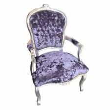 French Louis Style Crushed Velvet Chairs