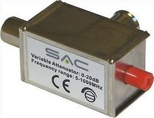 VARIABLE ATTENUATOR TV AERIAL SIGNAL REDUCER 20dB 3 5 6 8 9 10 12 15 18 FREEVIEW