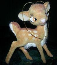 Vintage Bambi Christmas Ornament Walt Disney Productions Flocked hong kong