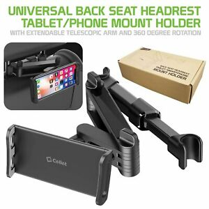 Car Back Seat Tablet/ Phone Holder Mount iPhone iPad Pro Mini Samsung Galaxy LG.