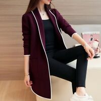 Women Long sleeve cardigan Coat Jacket Slim Parka Outwear Coats Warm