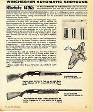 1976 Print Ad of Winchester Automatic Model 1400 Winchoke Field Grade Shotgun