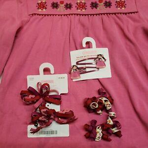2006 Gymboree Peruvian Doll Accessories Lot Hair curlies hair clips EUC