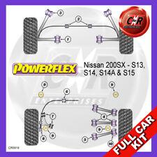 200SX S13 Rr Up Arm Bushes Camber, Rr Beam Mnt Bushes Powerflex Kit