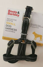 Boots & Barkley Reflective Adjustable Step-in Dog Harness Black Size Small