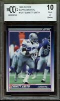 1990 Score Supplemental #101T Emmitt Smith Rookie Card BGS BCCG 10 Mint+