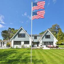 New listing 25ft Solemn Outdoor Decoration Sectional Halyard Pole Us America Flag Flagpole
