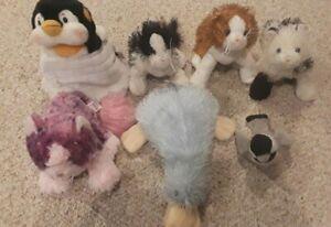 Webkinz Lot 7 Stuffed Animals No Codes Ganz Kittens Platypus Penguin VG+ Used