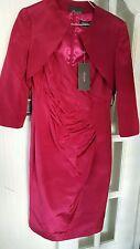 Alexon Dark Swan Pink Dress with Jacket Size UK 12 RRP £234